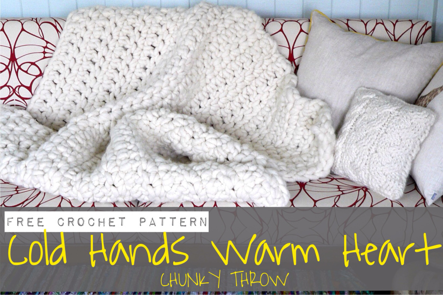 Cold Hands Warm Heart Chunky Blanket | Homelea Lass