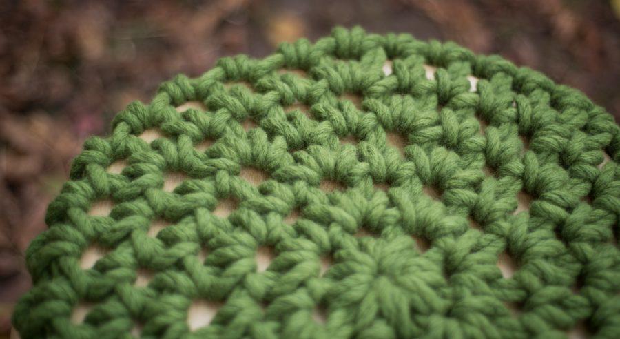 Grounded Stool Chunky Crochet Chunky Knits Chunky Stool | Homelea Lass