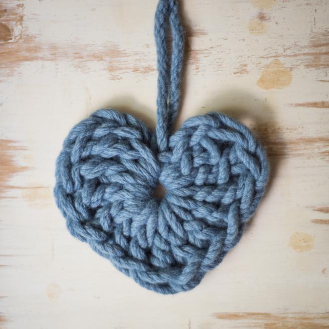 Chunky Heart Free Crochet Pattern | Homelea Lass
