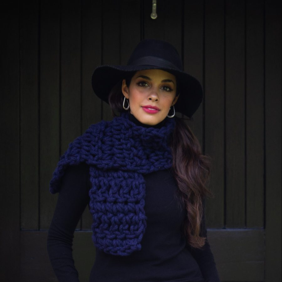 Chunky Scarf Crochet Kit - Australian Merino Wool | Homelea Lass Contemporary Crochet