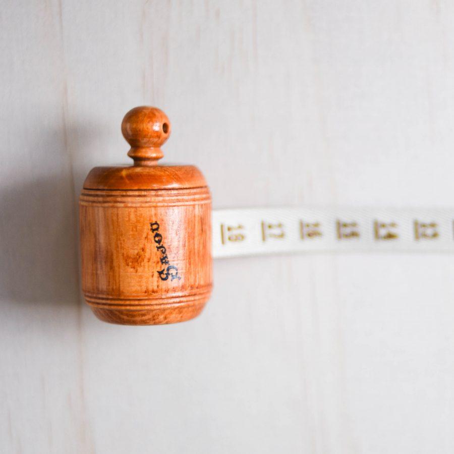 Vintage Wooden Tape Measure Sajou | Homelea Lass