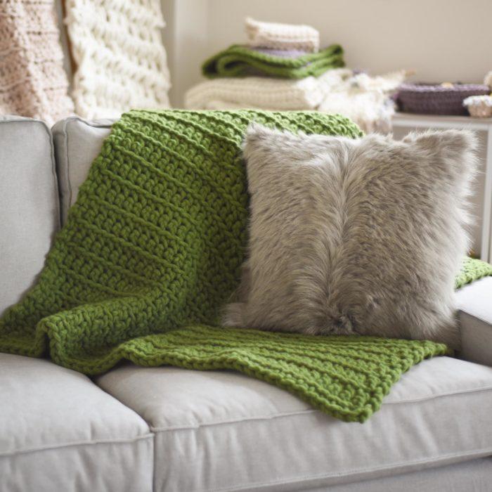 Bliss Blanket - chunky wool blanket | Homelea Lass