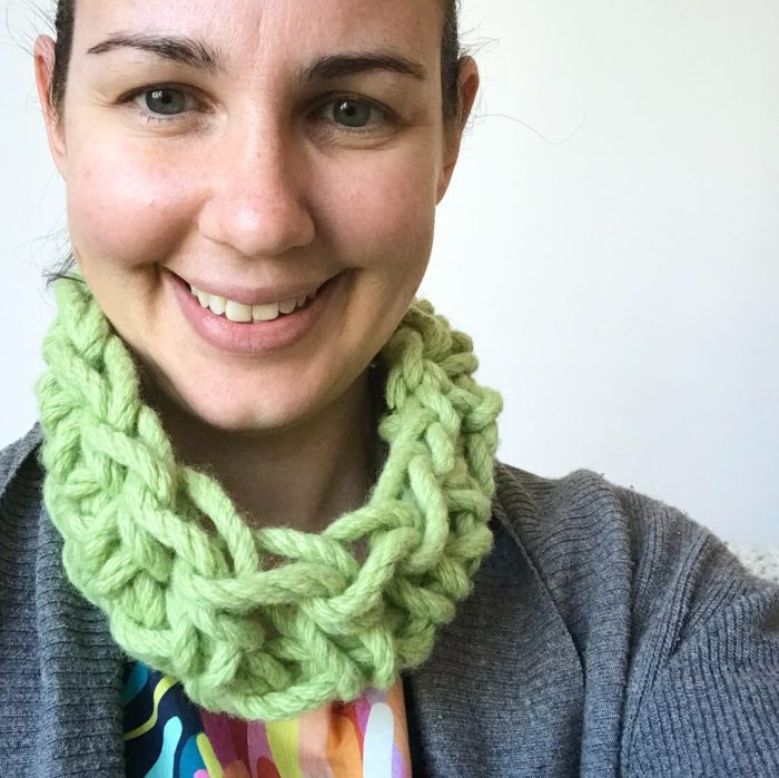 Spring Cowl crocheted with chunky Australian merino wool | Homelea Lass