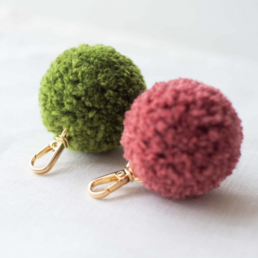 PomPom Bag & Key Clip Kit - Australian Merino Wool | Homelea Lass Contemporary Crochet