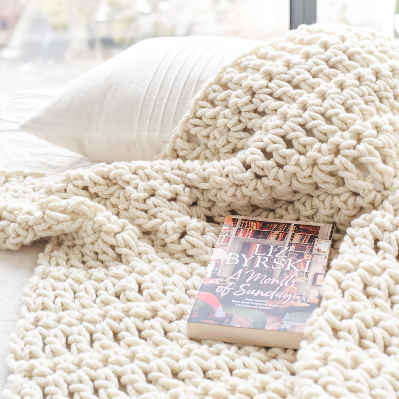 Chunky Blanket Crochet Kit - chunky Australian Merino wool | Homelea Lass