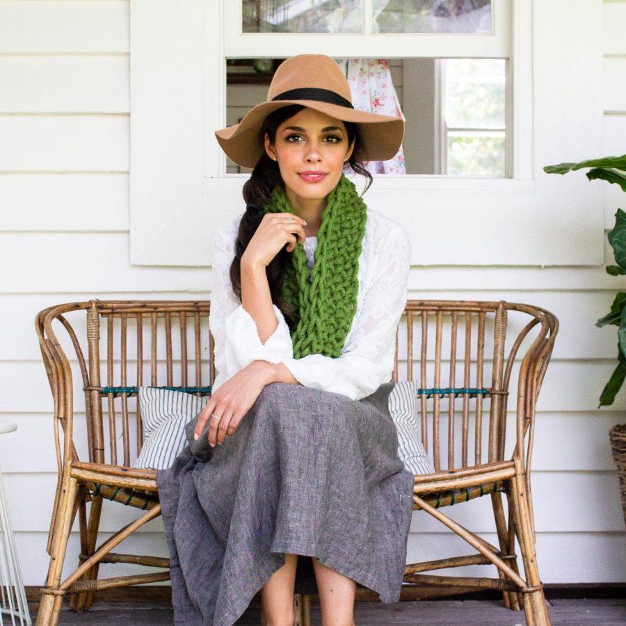 Olive Green Grounded Cowl - Australian Merino Wool | Homelea Lass Contemporary Crochet
