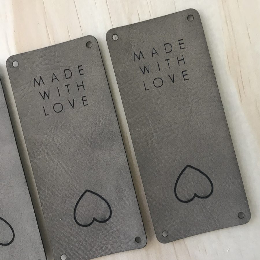 Made with Love Tags Vegan Leather | Homelea Lass