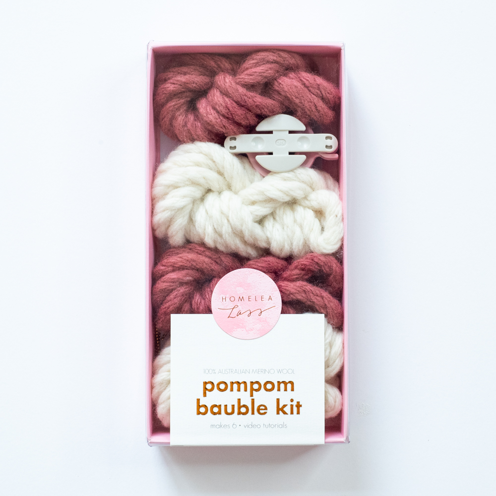 PomPom Bauble Kit Australian Merino Wool | Homelea Lass