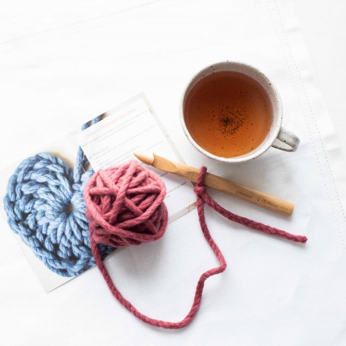Christmas Hearts and Tea Crochet Kit | Homelea Lass Contemporary Crochet