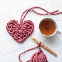 Christmas Hearts and Tea Crochet Kit | Homelea Lass Contemporary Crochet