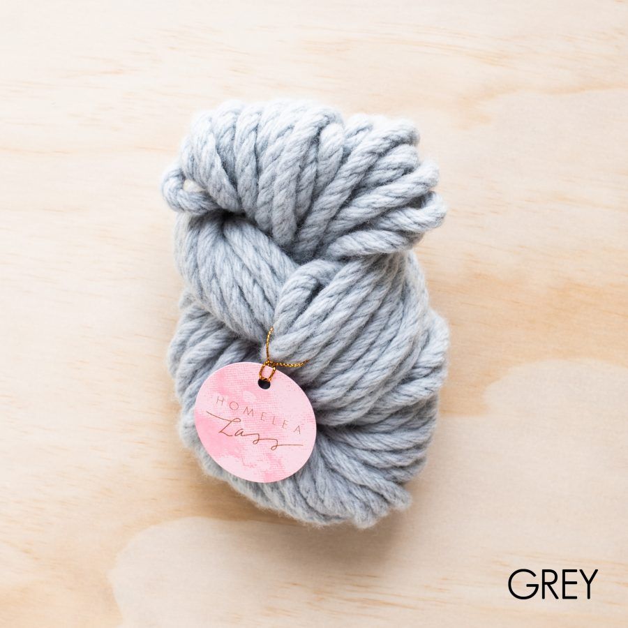 Grey Homelea Bliss yarn - Australian Merino wool | Homelea Lass