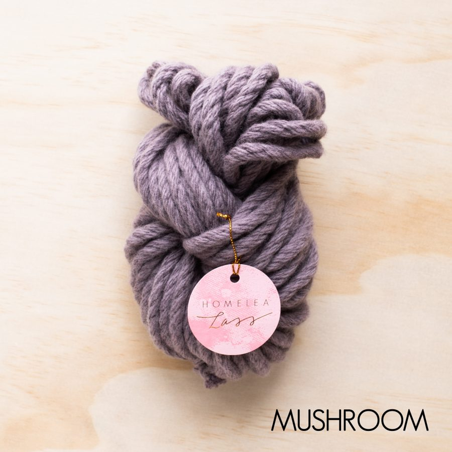 Mushroom Homelea Bliss yarn - Australian Merino wool | Homelea Lass