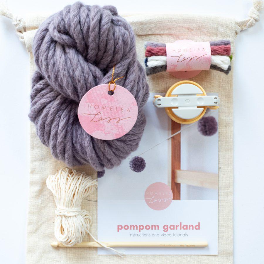 PomPom Garland Kit Australian Merino Wool | Homelea Lass