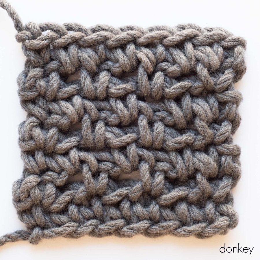 Diamond Blanket Colour Sample - web square - donkey | Homelea Lass contemporary crochet