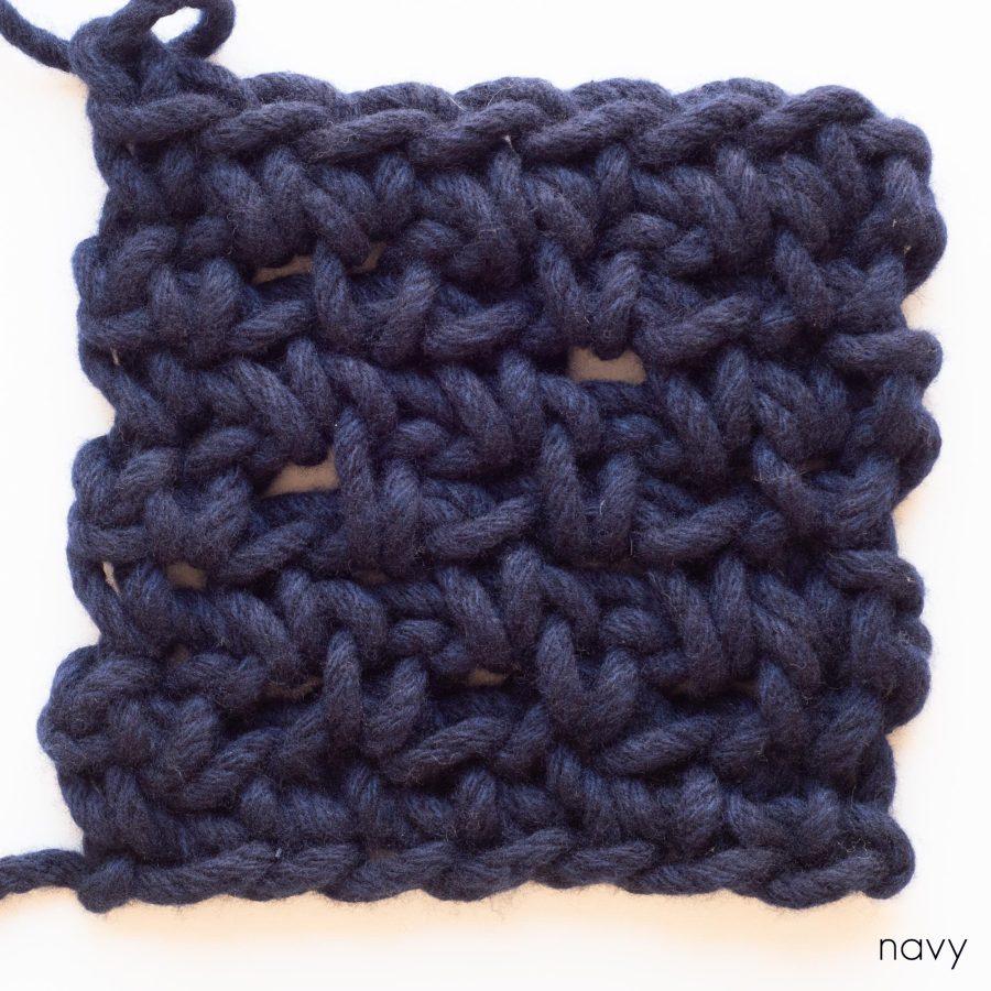 Diamond Blanket Colour Sample - web square - navy | Homelea Lass contemporary crochet