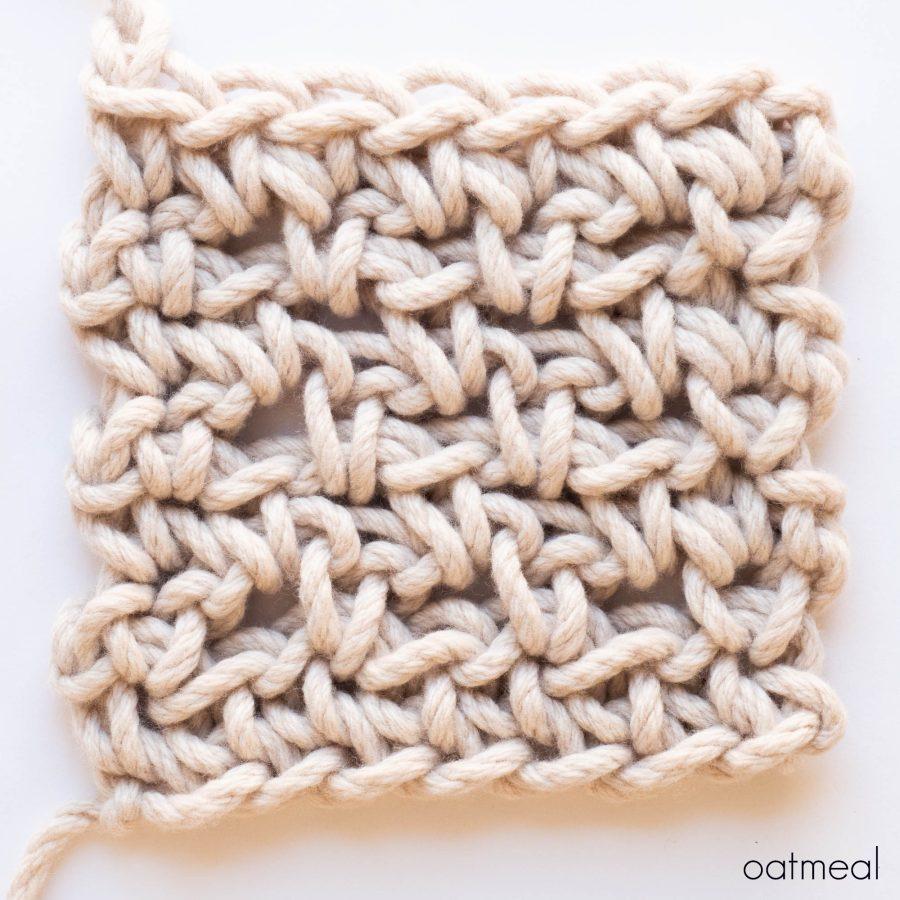Diamond Blanket Colour Sample - web square - oatmeal | Homelea Lass contemporary crochet