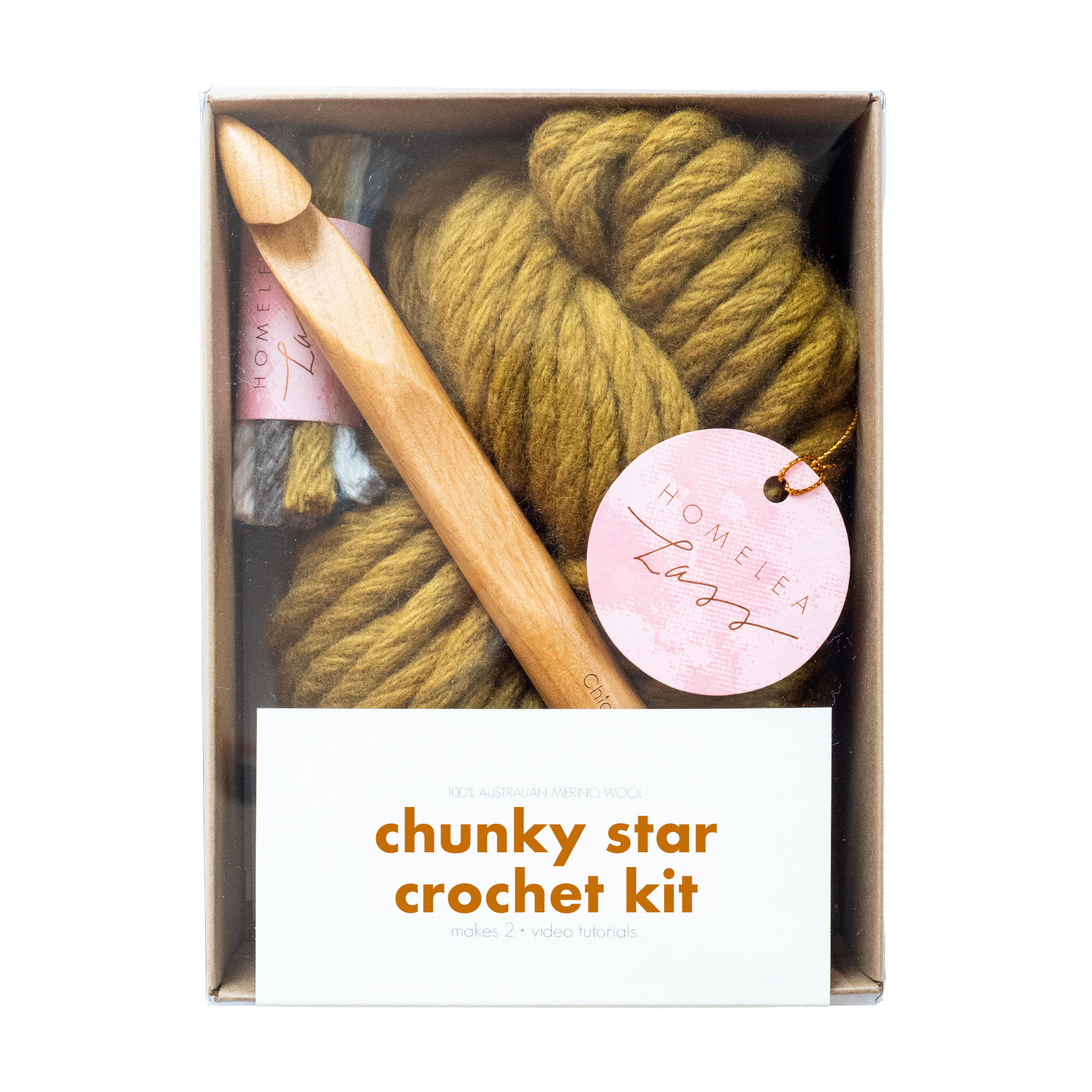 Chunky Star Crochet Kit | Homelea Lass Contemporary Crochet